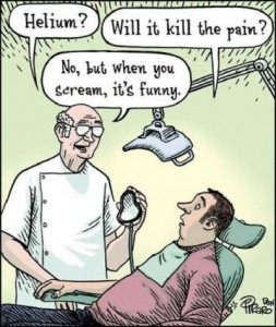 a funny picture about visiting a dentist